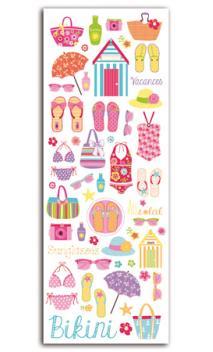 Transferibles colores Beach girl - 1 Hojas 15x21