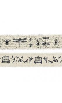 Surtido 2 cintas algodon anchas col. Negro cabinet de curiosités