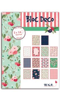 Bloc Deco Lovely Flowers 15x20 28 hojas