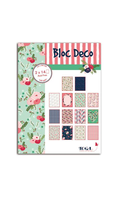 Bloc deco Lovely Flowers 15x20 28f.