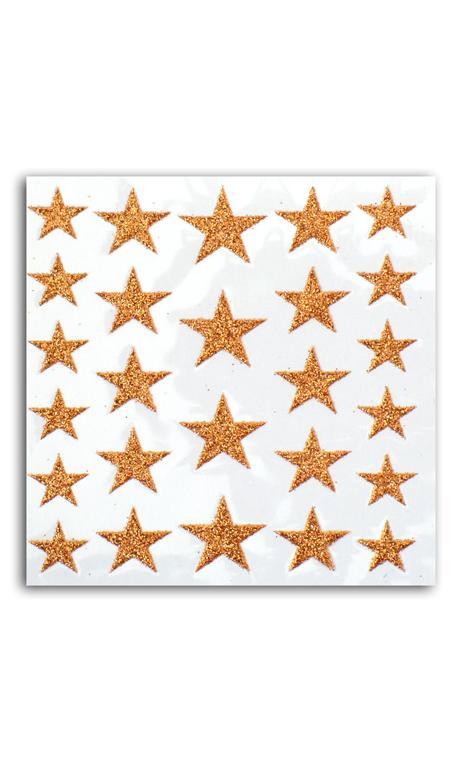26 estrellas glitter cuero