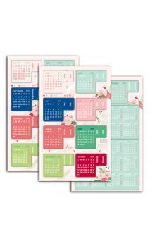 Conjunto 4 stickers pizarra 10x10cm - Daily