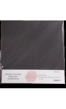Papel Básico Canvas Negro 250g 30,5x30,5cm 25 hojas