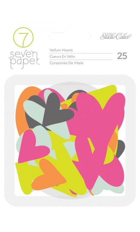 Embellishements - SC - Baxter - Vellum Hearts (25 Piece)