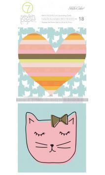 Handbook - SC - Baxter - Journaling Cards - 4 x 4 - Cats (18 Piece)
