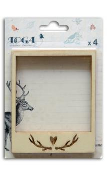 Surtido de 4 polaroids madera brut sotobosque