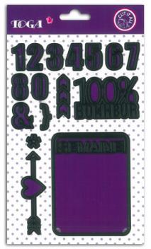 Troqueles 2 tarjetas 7,6x10,2  semana & cifras