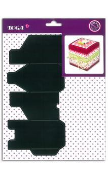 Troquel caja cuadrada