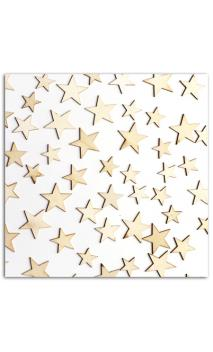 Surtido de 60 formas madera pequeñas estrellas