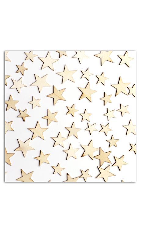 Conjunto de 60 formas madera petites estrellas