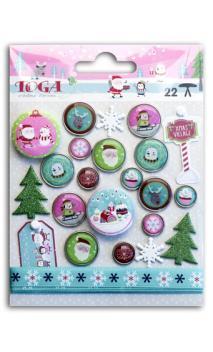 Conjunto adornos Navidad En el Polo Norte
