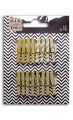 Conjunto de 16 mini pinzas ropa-Oro