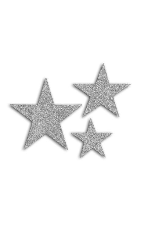 Oro de Bombay 12 die cuts estrellas Plata