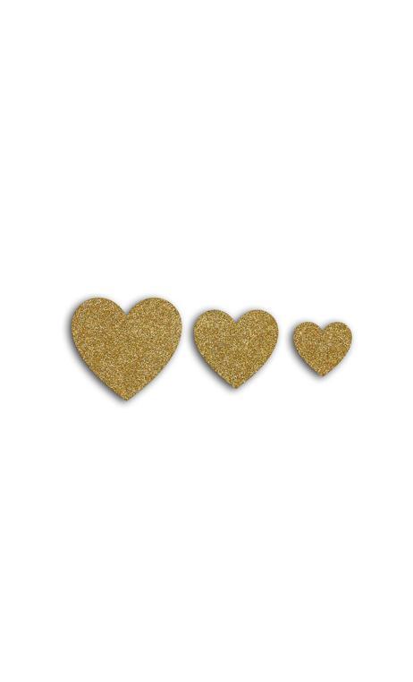 Oro de Bombay 12 die cuts corazones Oro