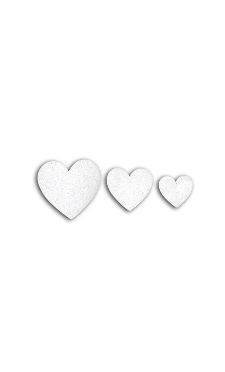 Oro de Bombay 12 die cuts corazones Blanco