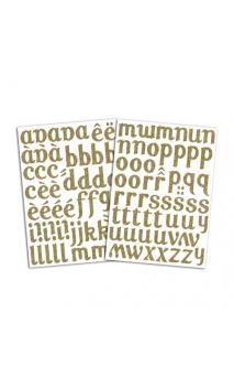 Alfabeto  Term. Lola - Glitter Oro