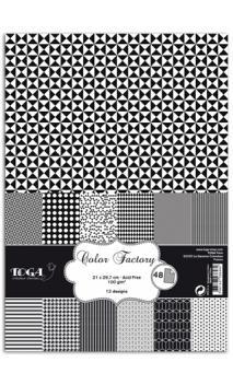 Color factOroy A4 - 48 hojas negro&Blanco