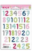 1 pl. stickers cifras 1 à 25 Navidad En el Polo Norte