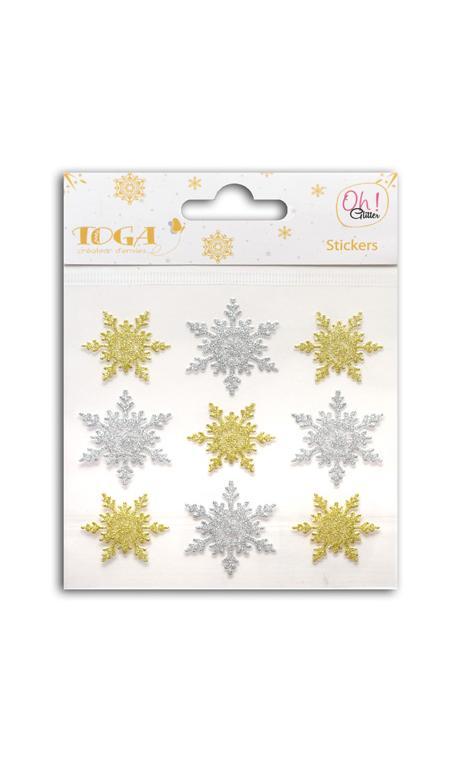 9 Copos glitter Oro/Plata
