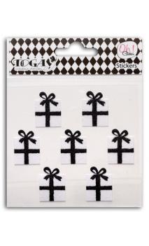 7 regalos glitter negro/Blanco