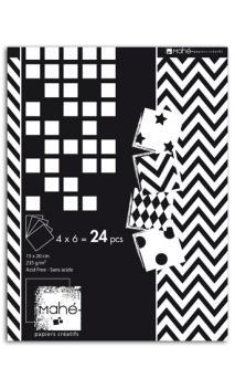 Bloc Deco 15x20 motivos negro & blanco 24 hojas