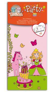 Talonario 16 invitaciones princesa