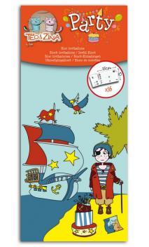 Talonario 16 invitaciones pirata