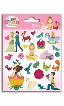 Princesas - 1pl. pegatinas puffy