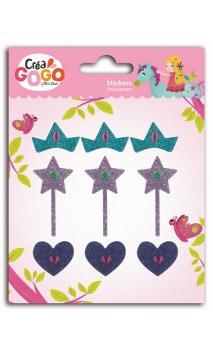 Princesas - 1pl.  stikers brillantes &strass