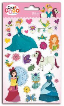 Princesas - 1 lámina pegatinas glitter