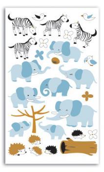 Mis primeras pegatinas T&Z - elefantes