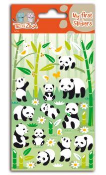 Mis primeras pegatinas téo&Zina - panda