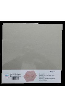 Cartón Básico Gris Calibre 1,5 mm  30,5x30,5cm 6 hojas