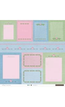 Desfile Floral 30 papeles para scrapbooking de Collage de Memòries
