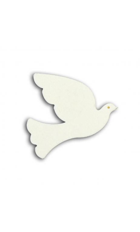 TFB017 Conjunto. 25 confettis madera palomas blanches