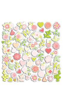 TFPD97 Conjunto. 70 formas recortadas Rosa/verde