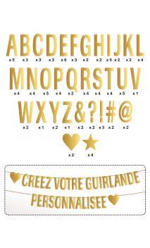 TKR61 Guirnalda de letras para componer - oro