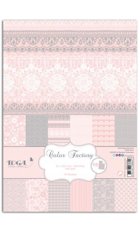 TPPK013 Color Factory A4 - 48 hojas Puntillas