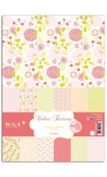 Color Factory - A4 - 48 hojas Rosa/verde