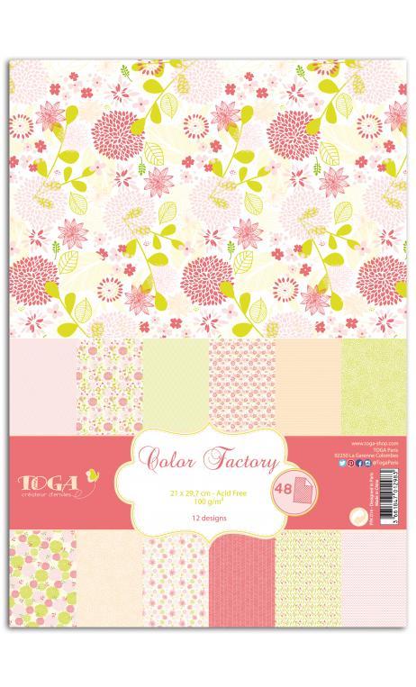 TPPK014 Color Factory - A4 - 48 hojas Rosa/verde