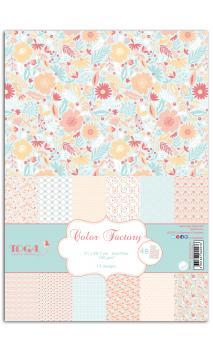 Color Factory - A4 - 48 hojas Menta/melocotón/rosa