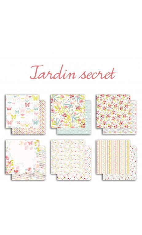 TPS129 Set 6 papeles r/v 30x30 Jardin Secreto
