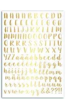 Transferibles oro - 1pl. 15x21 alfabeto-Notting Hill