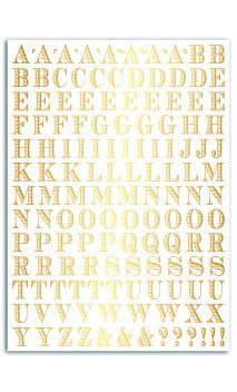 TROC15 Rub-ons oro - 1pl. 15x21 alfabeto-Stockholm