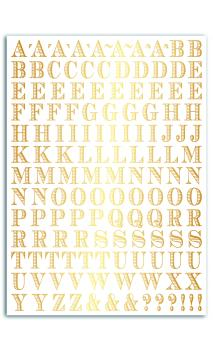 Transferibles oro - 1pl. 15x21 alfabeto-Stockholm