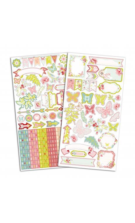 TSTF82 2 Hojas Stickers 15x30 Jardin Secreto
