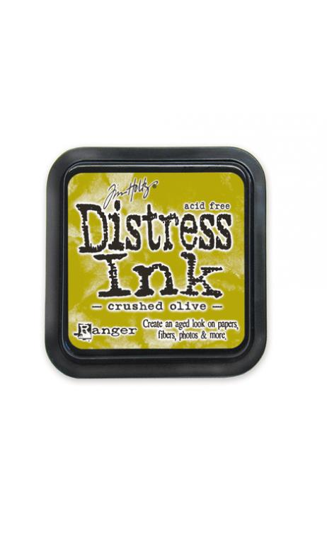 Distress ink crushed olive