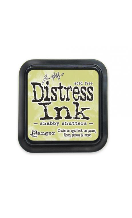 Distress ink shabby shutters
