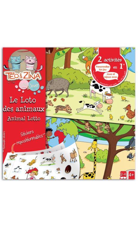 Teo & Zina juego loto des animales