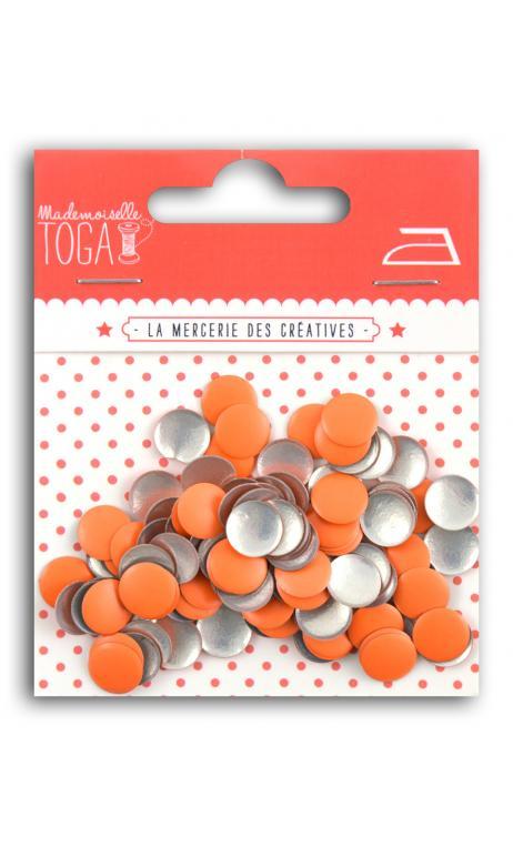 Tachuelas redondas térmicas 8 mm-Naranja Fluo